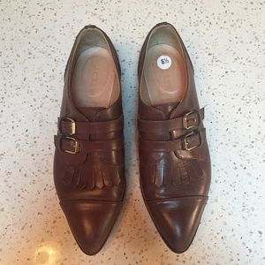 J. Crew Leather Kiltie Monk Strap Loafers